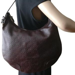 Gucci Princy Guccissima Brown Leather Hobo